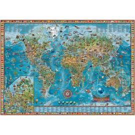 Carte des merveilles du monde