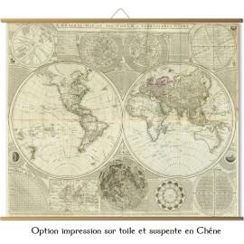 Große Karte der Welt im Jahre 1787