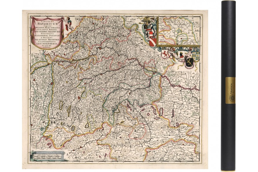 1684 Alte Karte von Bayern