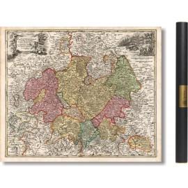 alte Karte von Hessen 1716