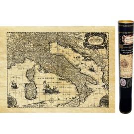 Alte geographische Karte von Italien. Karte von ANTICA veröffentlicht und auf einem Papier reproduziert