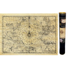 Alte Karte des Nordatlantik um 1550