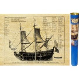 """Flaggschiff """"Soleil Royal"""" Sonnenplan von 1685"""