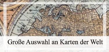Alte geografische Karten