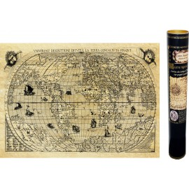 Weltkarte im Jahr 1550