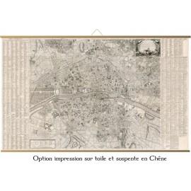 Grande carte de Paris en 1766