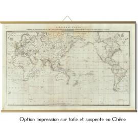 Monde en 1785 - expéditions du capitaine Cook - Eandeavour