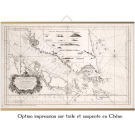 Straße von Singapur und Malakka 1755 vom Kartographen Bellin
