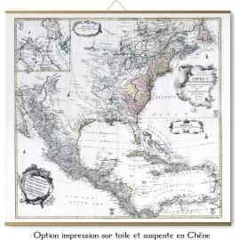 Große Karte von Amerika im Jahr 1753