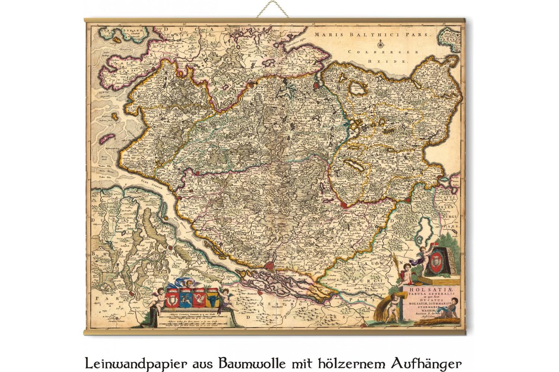 Alte Karte Von Schleswig Holstein 1690 Vom Frederick De Witt