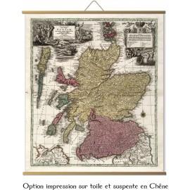 Alte Karte von Schottland von Moll Kartografen