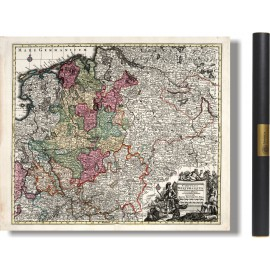 alte Westfalenkarte 1729