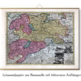 alte Karte von Hessen 1714