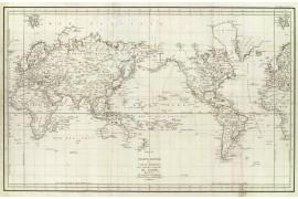Karte der Expedition oder Reise von De la Perouse im Jahre 1788