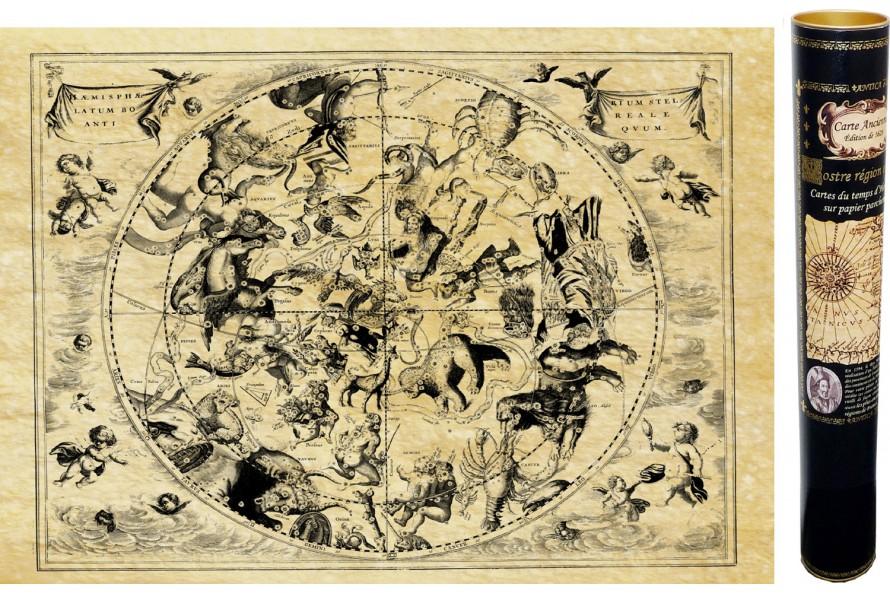 Karte des Himmels oder Sternzeichen aus der Zeit von Nostradamus